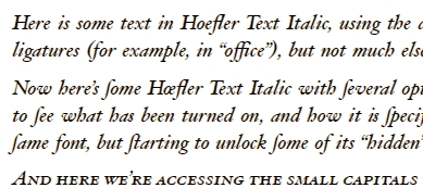 Hoefler sample